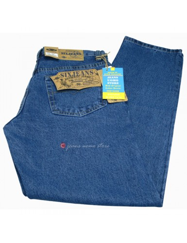 Jeans uomo Six 5 tasche in...